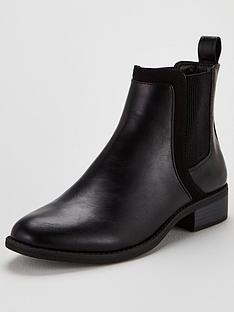 michelle-keegan-frankie-flat-chelsea-boot-black