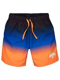 hype-boys-script-fade-swim-shorts-orangeblue