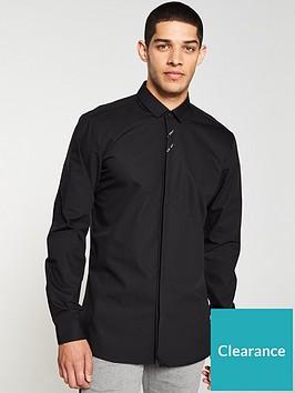hugo-ed-long-sleeve-tape-logo-shirt-black
