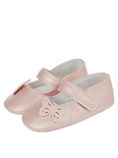 monsoon-pink-butterfly-bootie