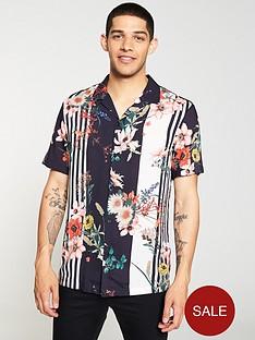 river-island-short-sleeve-floral-stripe-shirt