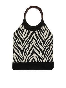 accessorize-zoe-zebra-handheld-bag