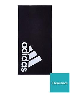 adidas-logo-towel-black