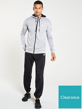 adidas-smu-hooded-3-stripe-tracksuit-grey