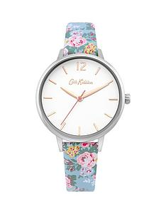 cath-kidston-cath-kidstoin-candy-flowers-white-dial-blue-floral-printed-strap-ladies-watch