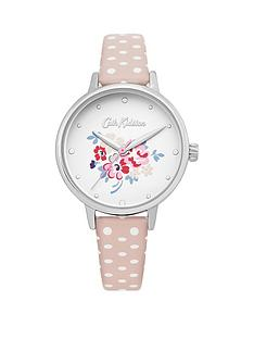 cath-kidston-cath-kidston-lucky-bunch-off-white-dial-nude-spot-strap-ladies-watch