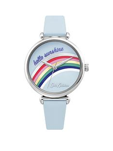cath-kidston-cath-kidston-rainbow-blue-dial-blue-leather-strap-ladies-watch