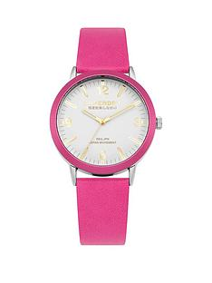 superdry-superdry-kobe-white-dial-pink-leather-strap-ladies-watch