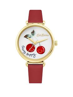 cath-kidston-cath-kidston-cherry-happy-white-dial-red-leather-strap-laies-watch