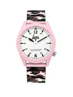 hype-hype-white-dial-khaki-and-pink-camo-print-sillicone-strap-ladies-watch
