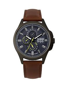 superdry-superdry-marshal-multi-navy-dial-brown-leather-strap-gents-watch