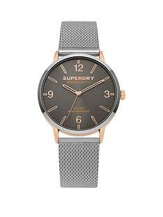 superdry-superdry-kobe-grey-dial-stainless-steel-mesh-strap-unisex-watch