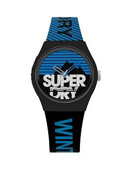 superdry-superdry-urban-ski-blackblue-dial-blackblue-silicone-strap-unisex-watch