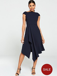 v-by-very-riviera-draped-prom-dress-navy