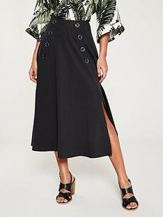 v-by-very-button-front-split-skirt-black