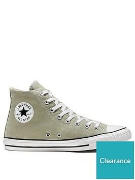 converse-chuck-taylor-all-star-canvas-hi-top-plimsolls-greenwhite