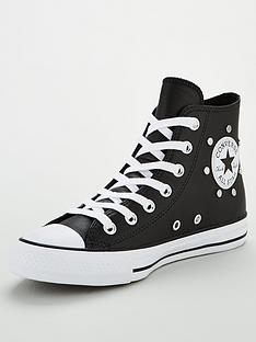converse-chuck-taylor-all-star-stud-leather-hi-top-plimsolls-black