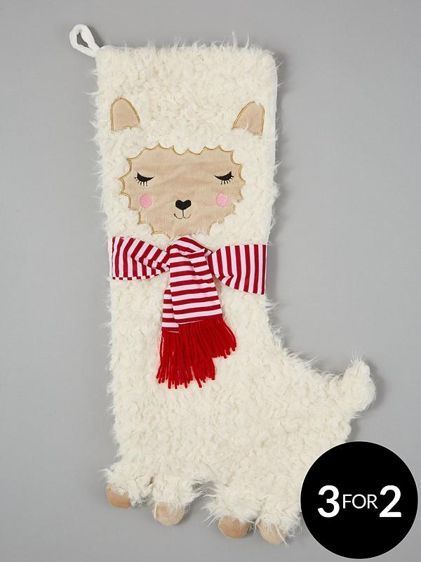 Llama Christmas Stocking.Fa La La Llama Christmas Stocking