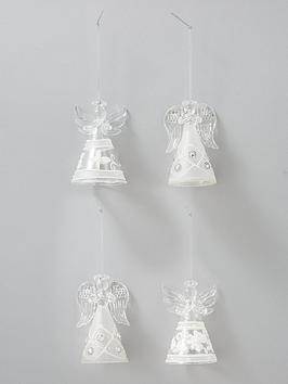 sass-belle-glitter-angel-christmas-tree-decorations-set-of-4