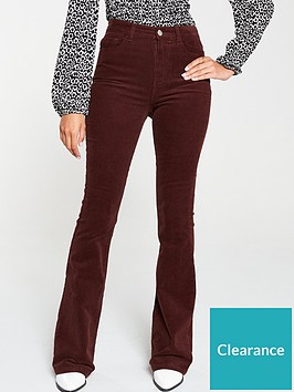 v-by-very-cord-flare-trouser-oxblood