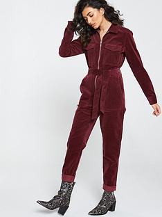 v-by-very-zip-front-velour-jumpsuit-oxblood