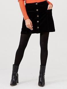 v-by-very-cord-button-through-mini-skirt-black