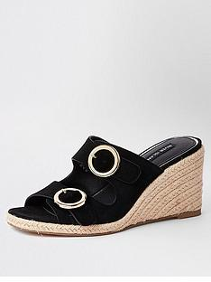 river-island-river-island-buckle-wedge-sandals-black