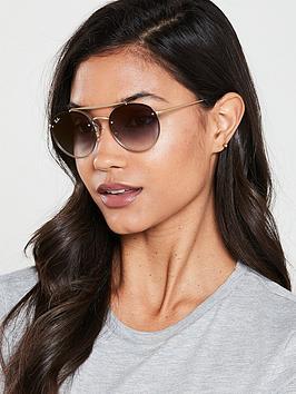 ray-ban-blaze-round-double-bridge-sunglasses-demi-gloss-gold