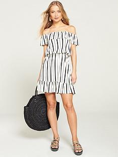 v-by-very-bardot-jersey-mini-frill-dress-stripe