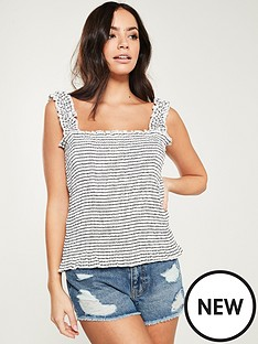 v-by-very-ruched-top-gingham