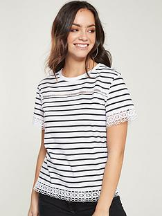 v-by-very-lace-trim-tee-stripe