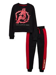 marvel-boys-logo-jogger-set-blackred