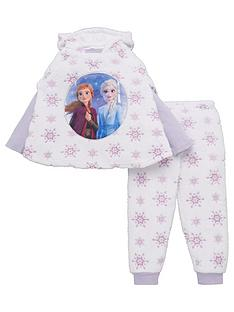 disney-frozen-girls-3-piece-cosy-snowflake-poncho-and-pyjama-set-multi