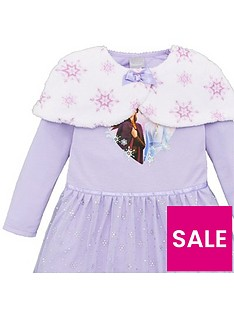 disney-frozen-2-girls-glitter-nightie-and-faux-fur-cape-set-lilac