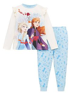 disney-frozen-2-girls-anna-and-elsa-jersey-pyjamas-multi
