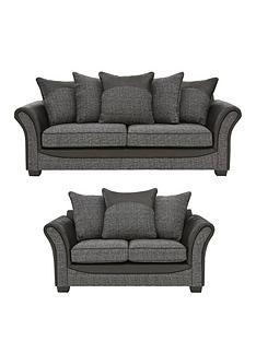 austin-fabric-and-fauxnbspsnakeskin-3-seater-2-seaternbspscatter-back-sofa-set-buy-and-save
