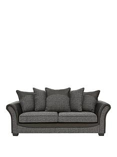 austinnbspfabric-and-faux-snakeskin-3-seater-scatter-back-sofa