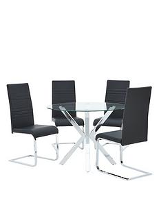 chopstick-100-cm-round-glass-dining-table-4-chairs