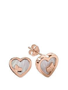 radley-18k-rose-gold-plated-sterling-silver-mother-of-pearl-heart-dog-stud-ladies-earrings