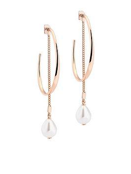 karen-millen-modern-pearl-hoop-earrings