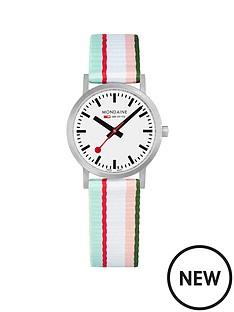 mondaine-mondaine-sbb-classic-white-30mm-dial-green-multicolour-stripe-textile-strap-swiss-made-watch