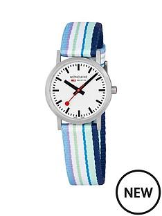 mondaine-mondaine-sbb-classic-white-30mm-dial-blue-multicolour-stripe-textile-strap-swiss-made-watch