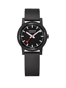 mondaine-mondaine-sbb-essence-black-32mm-dial-recycled-natural-rubber-black-strap-swiss-made-watch