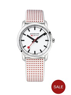 mondaine-mondaine-sbb-simply-elegant-white-36mm-dial-white-and-red-polka-dot-leather-strap-swiss-made-watch
