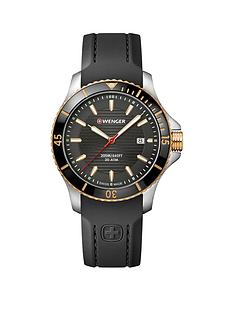 wenger-wenger-seaforce-black-and-gold-detail-date-43mm-dial-black-silicone-strap-swiss-made-mens-watch