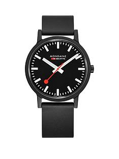 mondaine-mondaine-sbb-essence-black-41mm-dial-recycled-natural-rubber-black-strap-swiss-made-watch