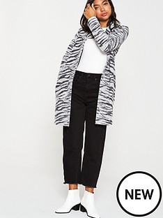 v-by-very-zebra-print-knitted-coatigannbsp--grey