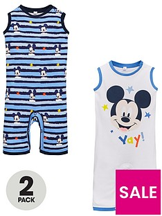 mickey-mouse-baby-boys-2-pack-rompers-multi