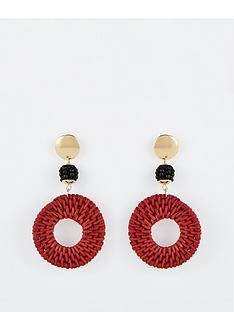 v-by-very-raffia-statement-drop-earrings-multi