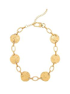 v-by-very-disc-link-necklace-gold